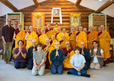 Sravasti Abbey community and guests.