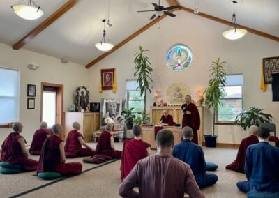 Nun introduces meditation.