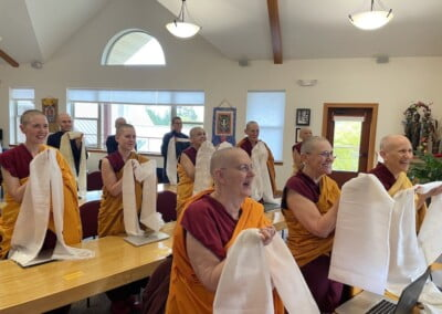 Community offers white scarves