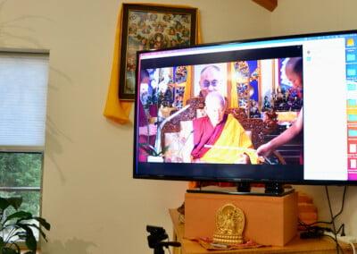 Monk on TV screen